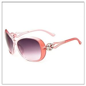 Accessories - NEW Oversized Coral Wide Polarized Sunglasses